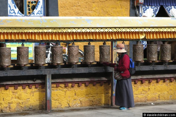 Prayer mills in Potala